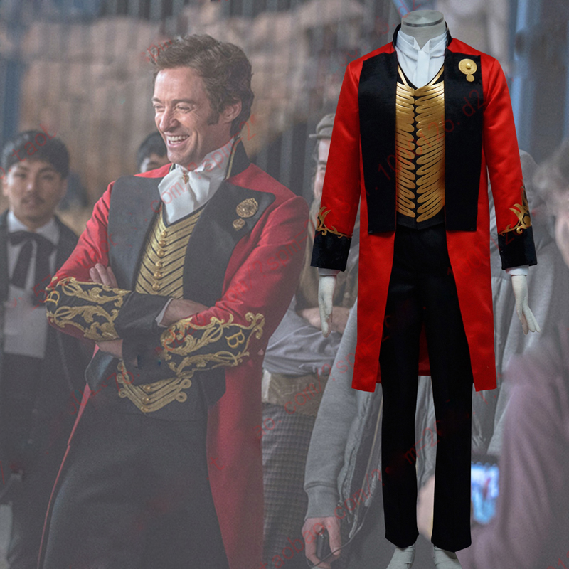 The Greatest Showman P.T Barnum Cosplay Costume Suit Uniform Outfit Halloween