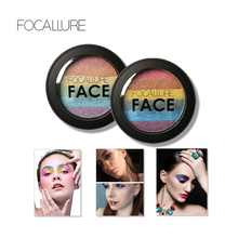 FOCALLURE New Rainbow Highlighter Makeup Palette Cosmetic Blusher Shimmer Powder Contour Eyeshadow Face Changing Highlight