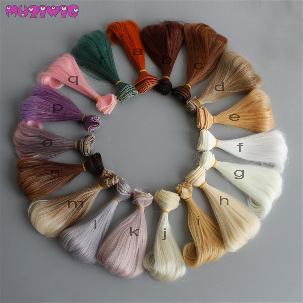 1pc 15cm DIY Wig Hairpiece Pear Curly Accessories for BJD SD Blyth American Dolls