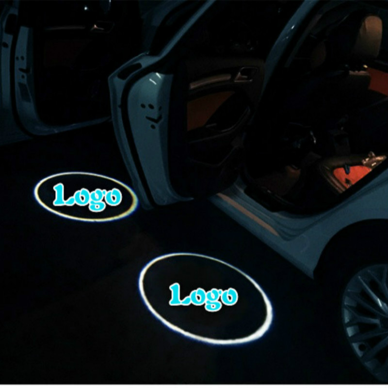 2pcs LED Car Door Welcome Light Laser Shadow led Projector Logo Decorative for Most cars
