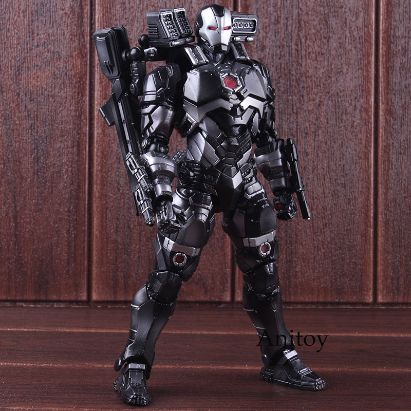 War Machine Marvel Universe Variant Play Arts Kai Action Figure PVC Action Figures Marvel Collectible Model Toy 25cm play arts kai marvel avengers infinity war super hero iron man war machine pvc action figure collectible model toy