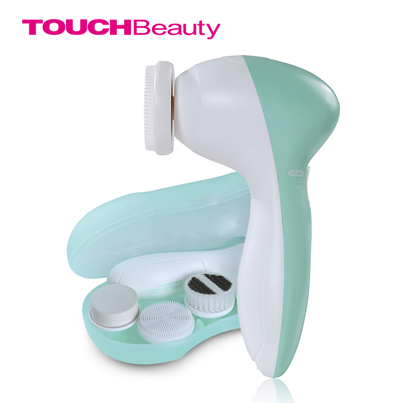 TOUCHBeauty Rotating Face Cleanser dengan 3 Head Brush Replacement, dua kelajuan kerja Brush Pembersih Wajah TB-0525A