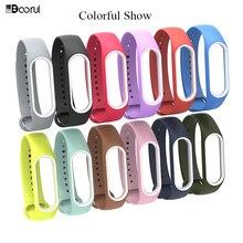 BOORUI mi band 3 strap silicone wrist strap mi3 accessories replacement for