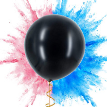 Gender Reveal Balloon Black Reveal Girl or Boy letter Latex Balloon with Confetti Birthday Balloons for Baby Shower Party