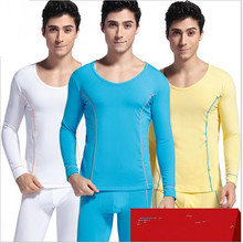 Solid Men Warm Thermal Underwear Mens Cotton O Neck Long Johns Sets For Man Thin Soft