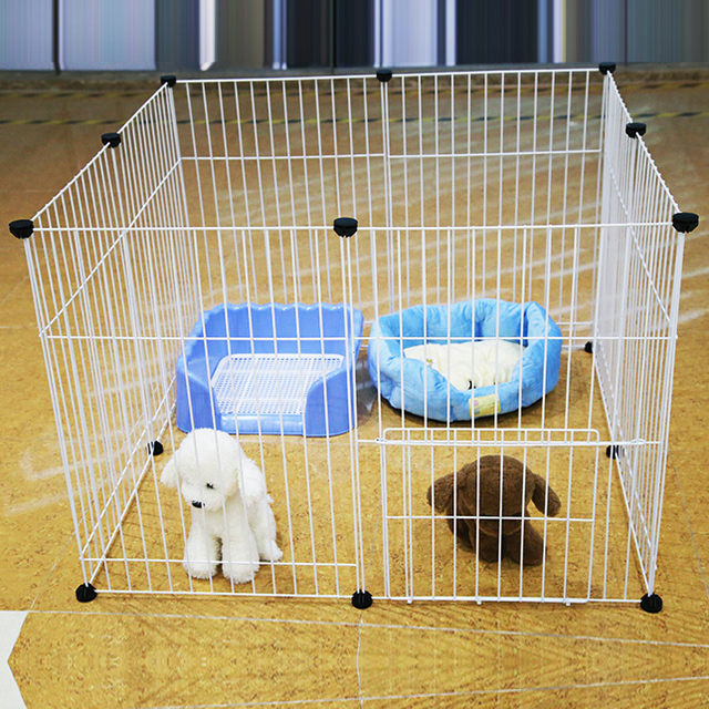 Iron Fence Pet Dog Kennel With Small And Medium Sized Cat Rabbit