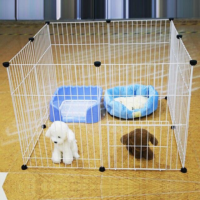 verja de hierro para mascotas dog kennel de pequeas y medianas gato conejo jaula puerta