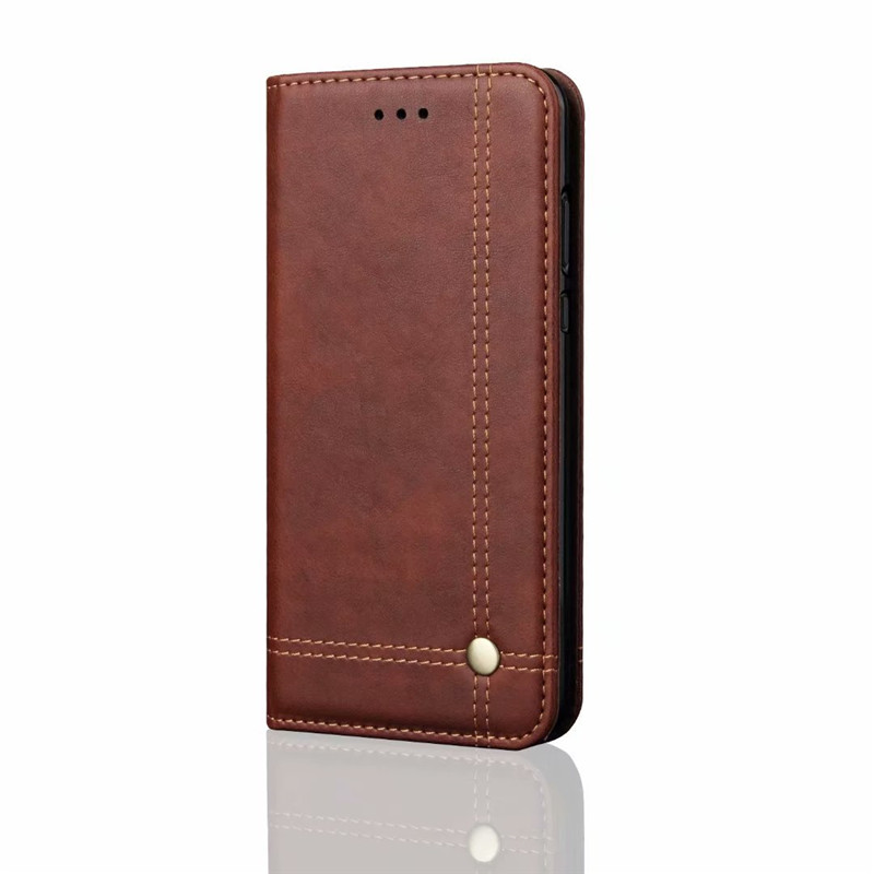 Luxury High Quality Vintage Leather Flip Cover Wallet Case For Xiaomi Mi8 SE Mi 8 Cases With Card Pocket in Wallet Cases from Cellphones Telecommunications