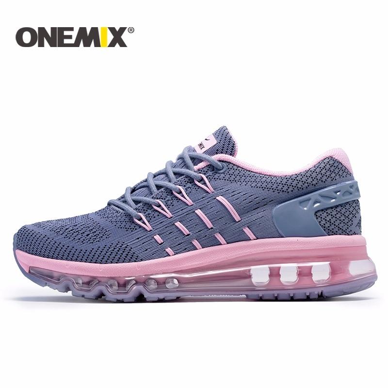 Onemix 2017 Baru Wanita Sepatu Lari Bernapas Sepatu Olahraga untuk Wanita  Wanita Olahraga Outdoor Sepatu Zapatos f03b7e408b