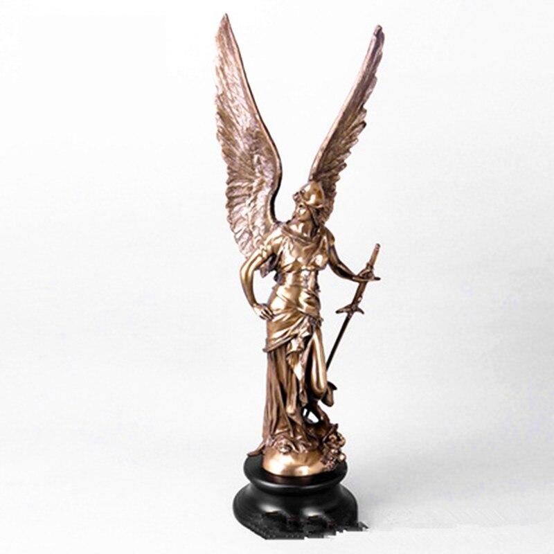 Angel Goddess Imitation Cuprum Full-Length Portrait Statue European Style Model Home Decorations G1018Angel Goddess Imitation Cuprum Full-Length Portrait Statue European Style Model Home Decorations G1018