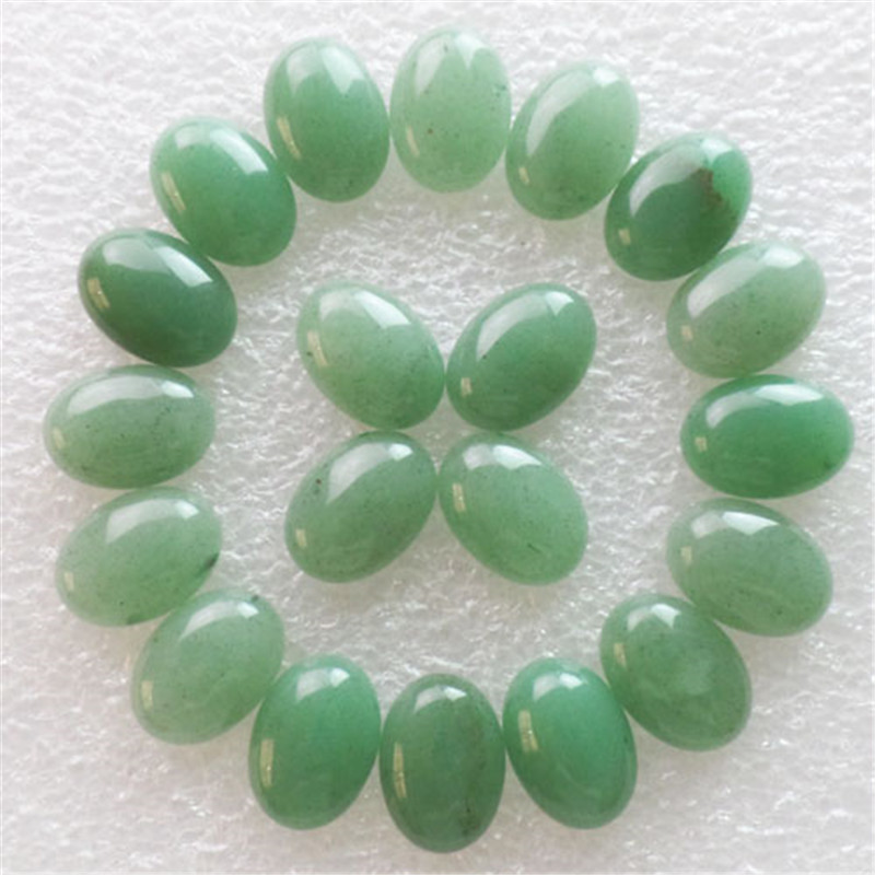 (Min.order 10$ mix) Free shipping 20Pcs Beautiful Natural Green Aventurine Oval CAB CABOCHON18x13x6mm
