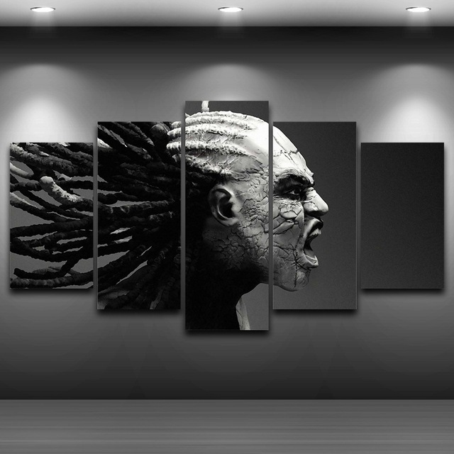 Home Decor HD Printed Canvas Wall Art Pictures Frame 5 Pieces Dark Creepy Fantasy Painting