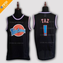 dc396333e Space Jam Bugs 1  D.Duck 2  Lola 10  Murray 22  Jordan Basketball Jerseys 23   Taz Tweety TuneSquad Stitched Embroidery Shirts