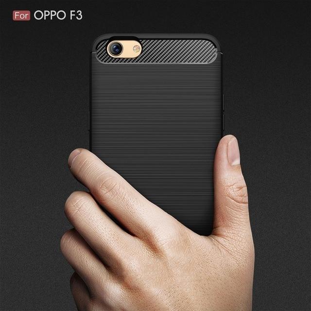 cheaper 62a81 d75e3 Newest Anti drop Soft Carbon Fiber Luxury TPU Case For OPPO A77 Back ...