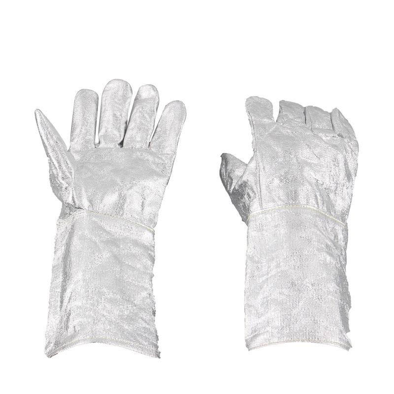 Industrial Flame Radiation High Temperature Resistant Aluminum Foil Gloves Heat Insulation Gloves Fire Resistant Safety Gloves flame trees of thika
