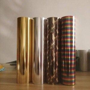 Image 3 - Бесплатная доставка, 25 см x 100 см, металлик и лазер, теплопередача, винил, камуфляж, радуга, термоклейкая пленка, футболка, пленка