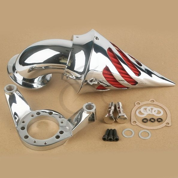 Motorcycle Chrome Air Cleaner Kits Intake Filter For Harley CV Carburetor Delphi V-Twin New head&shoulders 2в1 комплексный уход 200 мл gillette гелевый антиперспирант дезодорант power beads power rush 75 мл
