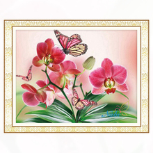 Square Flower orchid diamond painting cross stitch embroidery diamond mosaic - 3170R 5d diy beaded picture icons set