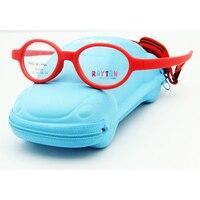Darmowa Wysyłka Marka Projekt Elastyczne Owalne Okulary Dzieci Akcesoria dla Dzieci Z Włókna Węglowego z Przypadku