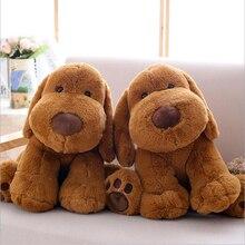 цена на 40cm Lovely Simulation Dog Doll Plush Toys PP Cotton Stuffed Animal Brown Dog Plush Doll Toy Children Toys Gift