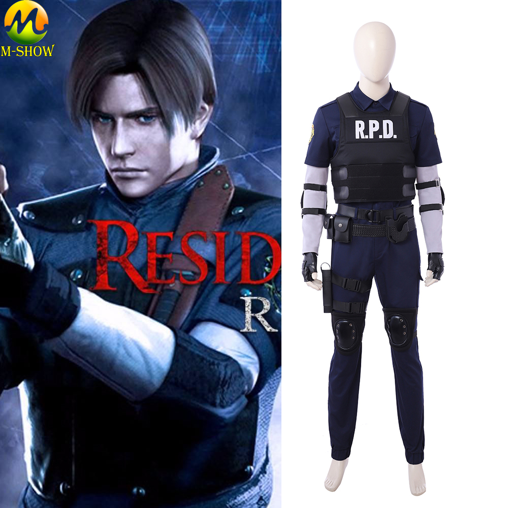 Newest Game Resident Evil 2 Cosplay Costume Leon Cosplay Costume Halloween Costumes For Adult Men Custom Made