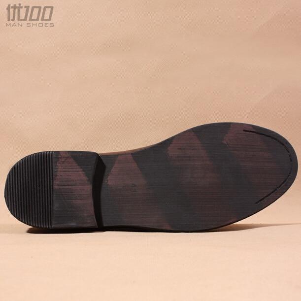 Noir brun Style Botte Chaussons Européen Rond Hommes Shown as Courte En Bottes Casual Chelsea Véritable As D'hiver Cuir Slip De Shown Bout On Cheville NPXk8nOZ0w