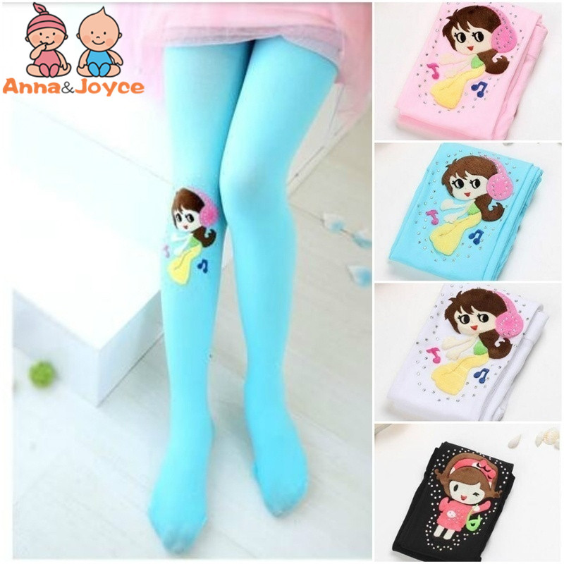 Kids Girls  Tights Velvet Candy Colors Cute Cat Fish Tights for Baby Children Pantyhose Stocking Autumn Toddler Stockings 1