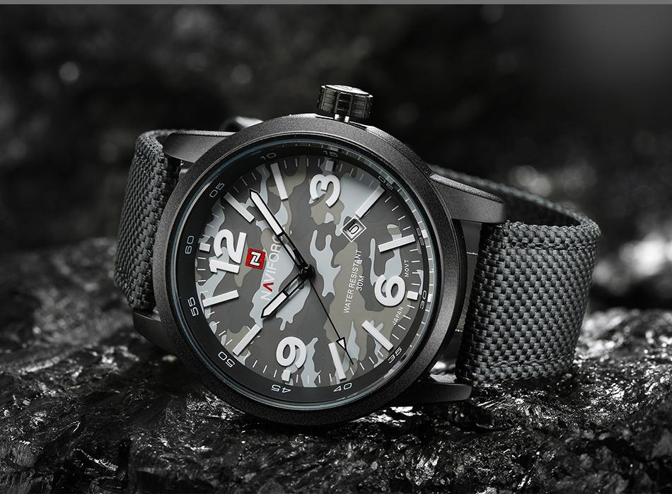 2017 Nouveau NAVIFORCE Hommes Quartz Sport Militaire Montres Hommes De Luxe de Marque De Mode Casual Montre-Bracelet Relogio Masculino Homme Horloge 14