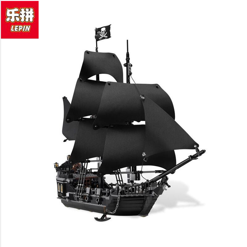 LEPIN 16006 804pcs Pirates of the Caribbean Black Pearl Dead Ship Model Builidng Blocks Brick Children toys Gifts  4184 kazi 1184pcs pirates of the caribbean black general black pearl ship model building blocks toys compatible with lepin