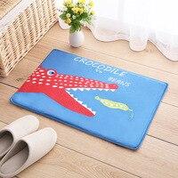 Cute Cartoon picture Pink Bow Floor Mat Rug Flannel Door Mat Light
