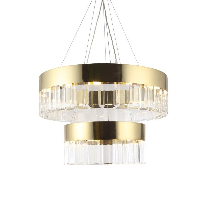 LED Crystal Chandelier Light modern luxury Aisle Porch Hallway Stairs Crystal Ring dining light G9 3W LED Light Bulb 18 light недорго, оригинальная цена