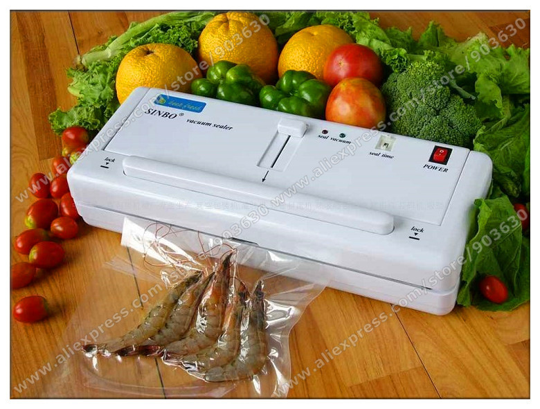 DHL/FEDEX Free  Shipping! Warranty one year --220V or 110V SINBO Household Vacuum Sealer Machine For Food DZ-280 2SD