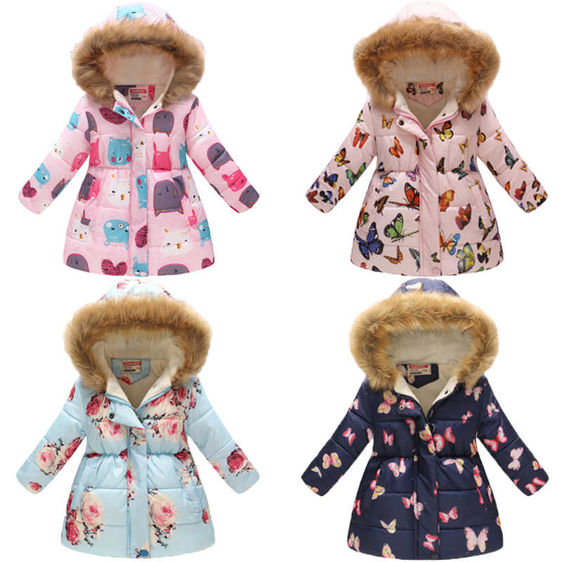 Girls Parka 2019 Winter Jacket For Girls Jacket Kids Parkas For Girls Down Jacket Children Warm Hooded Outerwear Coat 7 8 9 Year