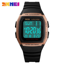 SKMEI Luxury Brand Men's Sports Watches LED Digital Watch Men Waterproof Military Wrist Watches For Men Clock Relogio Masculino все цены