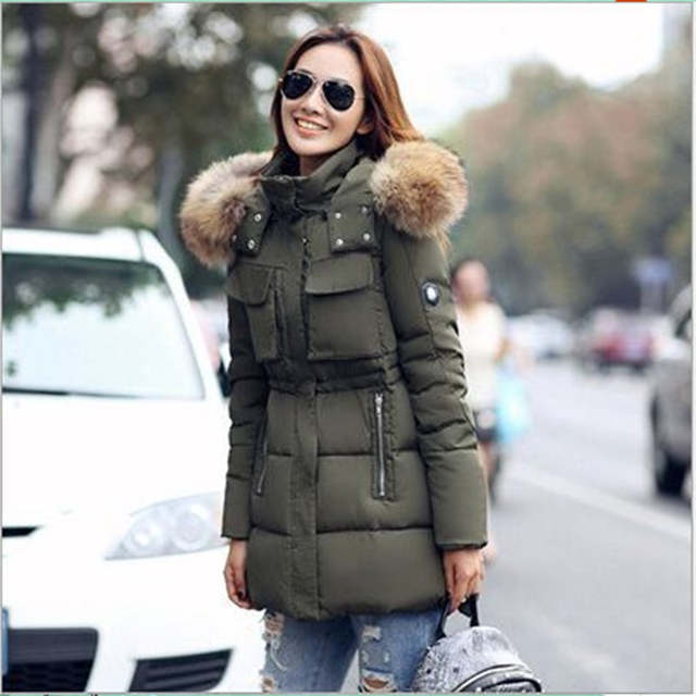59054ed7e88 Online Shop New Womens Winter Jackets And Coats Thick Warm Women Parka  Mujer Long Plus Size Down Cotton Padded Woman Coat fur ladies Jacket