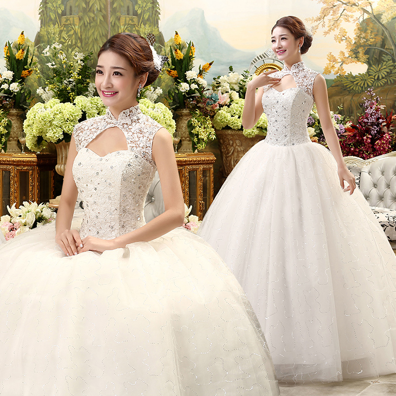 Fansmile Free shipping Cheap Vintage Lace Up Wedding Dress 2019 Real Photo Plus Size Bridal Ball