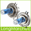1 Par Socket H4 Del Xenón Del Halógeno de Luz Reemplazar La Lámpara de 100 W 6000 K 12 V Super White