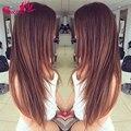 7a Mink Brazilian Virgin Hair Straight Soft Wet And Wavy Virgin Brazilian Hair 4 Bundles Light Brown Human Hair Weave Bundles