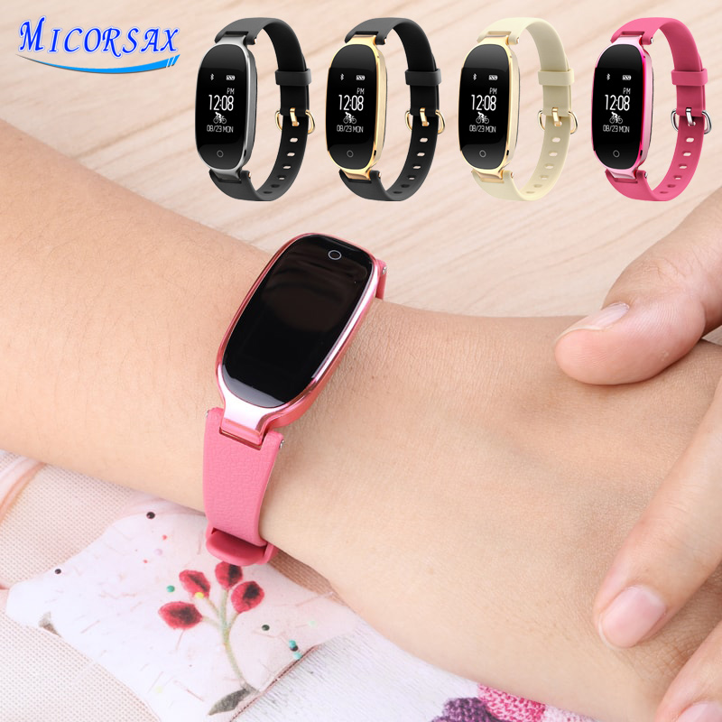 Heart Rate Sleep Monitor Smart Watch Women Fashion Smart Wristband Activity Tracker For Android IOS Smart Bracelet Fitness Band new fashion smart watch dial call 16g card heart rate monitor wristband for ios android bluetooth smart band women men bracelet