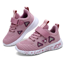 ULKNN Girls sports shoes autumn new children's double net breathable big kids students pink wild children's shoes casual  26-37