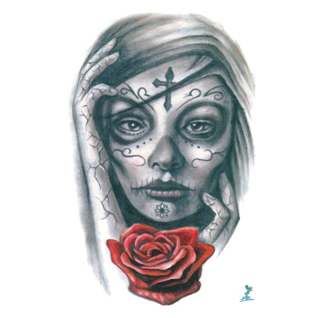 ba44c86d5c746 Yeeech Temporary Tattoos Sticker for Women Fake Large Makeup Lady Face Rose  Design Arm Leg Sexy Real Looking Long Last Body Art