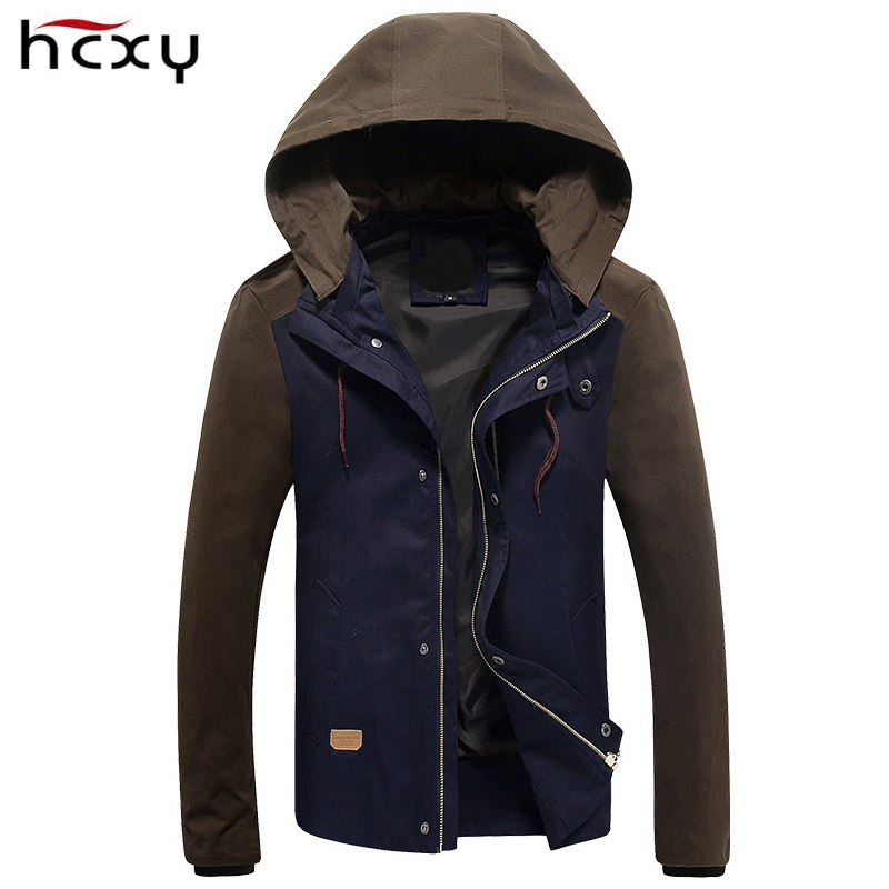 Mens Jacket 2017 Spring New Arrival Casual Hoodies jacket men Patchwork Slim Fashion work mens jackets and coats size M-5XL