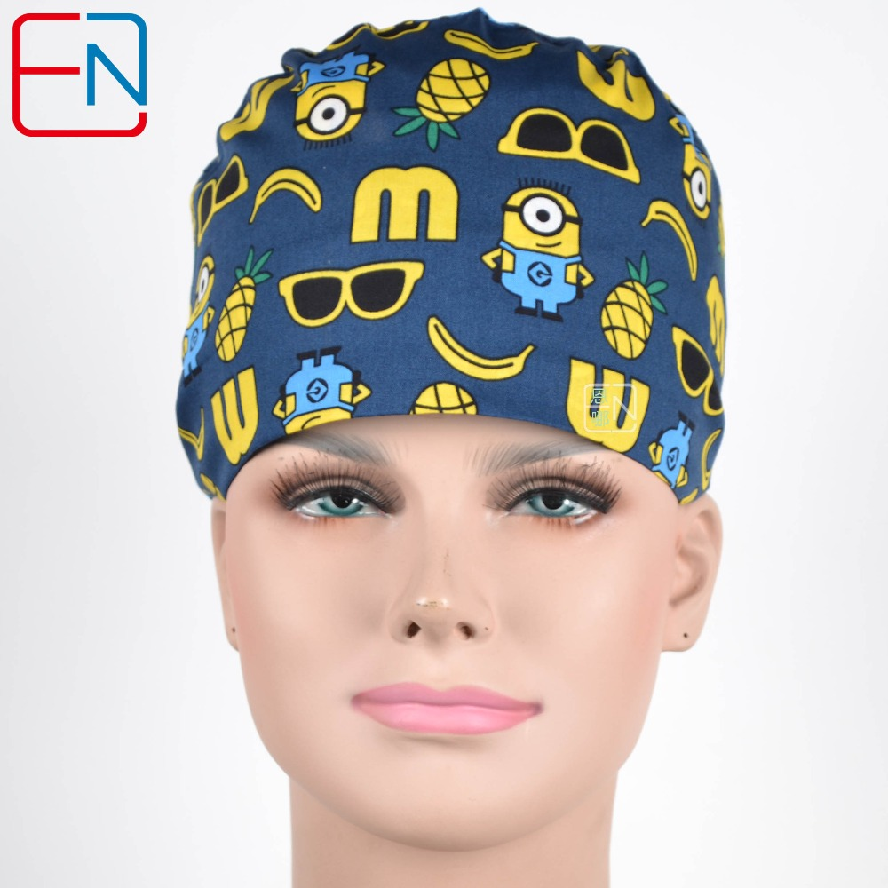 Factory Sales Directly Big Sales Medical Scrubs In Different Patterns ,surgical Caps 3 Sizes Scrub Caps Aixin Huangren