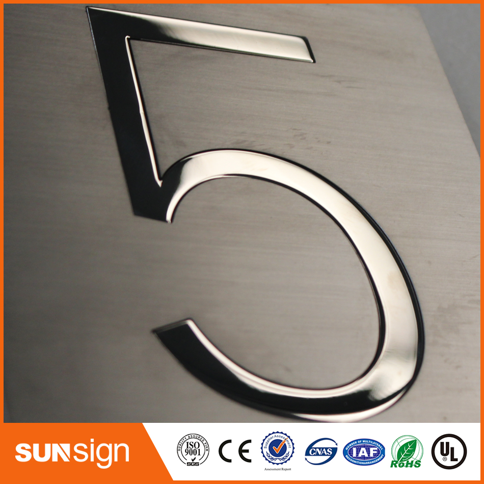 2017 New Arrival Brushed Stainless Steel Letters