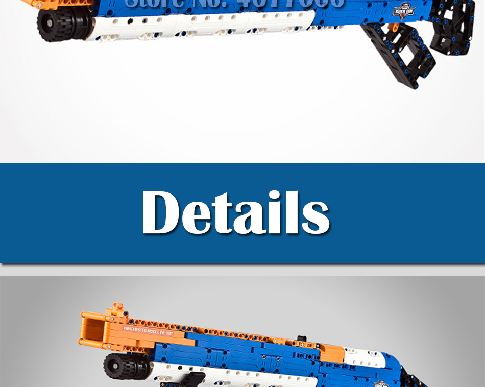 ak47 toy gun toy  gun model 98k gun building blocks bricks educational toys for children boys 20