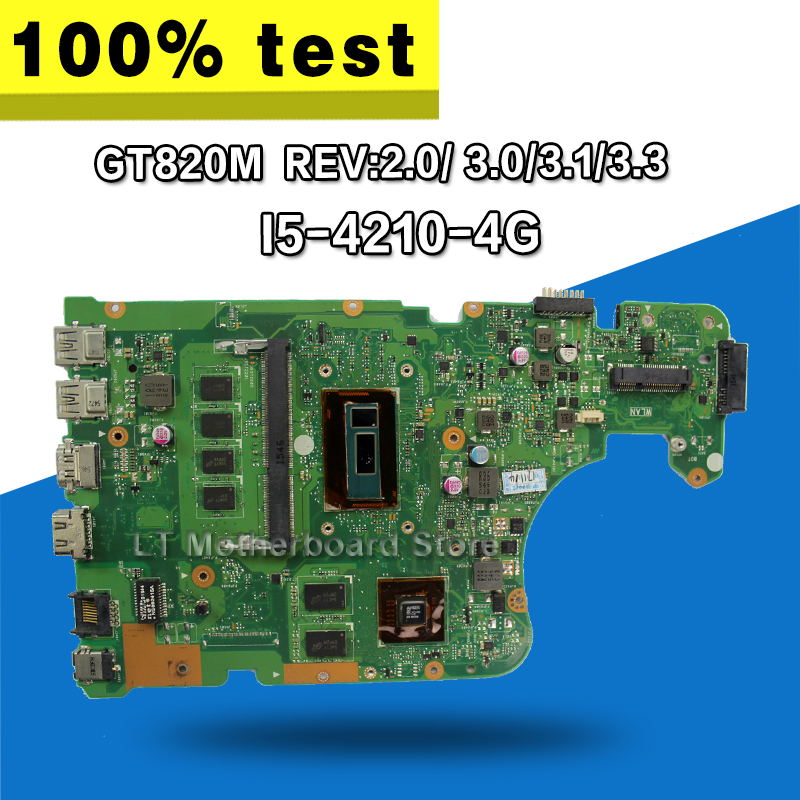 где купить FOR ASUS X555L X555lD X555LD X555LDB MAIN BOARD REV. 2.0 3.1 1.1 W/I5-4210U GT820M Motherboard S-4 дешево
