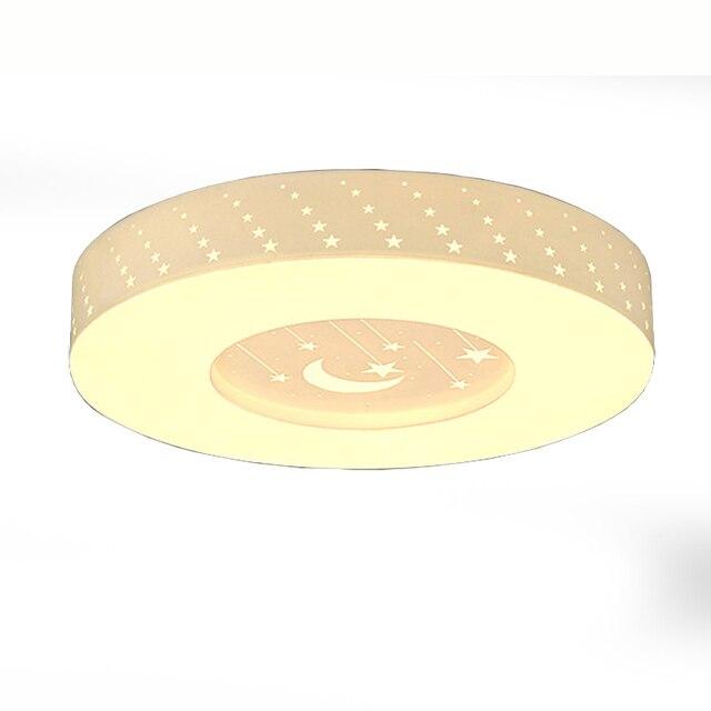 Modern LED Teto Do Quarto Lâmpada Lua Estrelas Acrílico Painel Luzes De  Teto Sala De Estudo