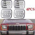 4 ШТ. Прямоугольные 7x6 Inch СВЕТОДИОДНЫЕ Фары Лампы Герметичные Направленного света H6014 H6052 H6053 H6054 объектив Проектора Для 86-95 Jeep Wrangler YJ JK C
