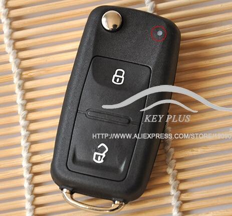 2 Button Flip Fob Remote Folding Key Shell for VW Polo Transporter Golf Uncut Blade Car Key Case NO Chip Keyless Entry Key