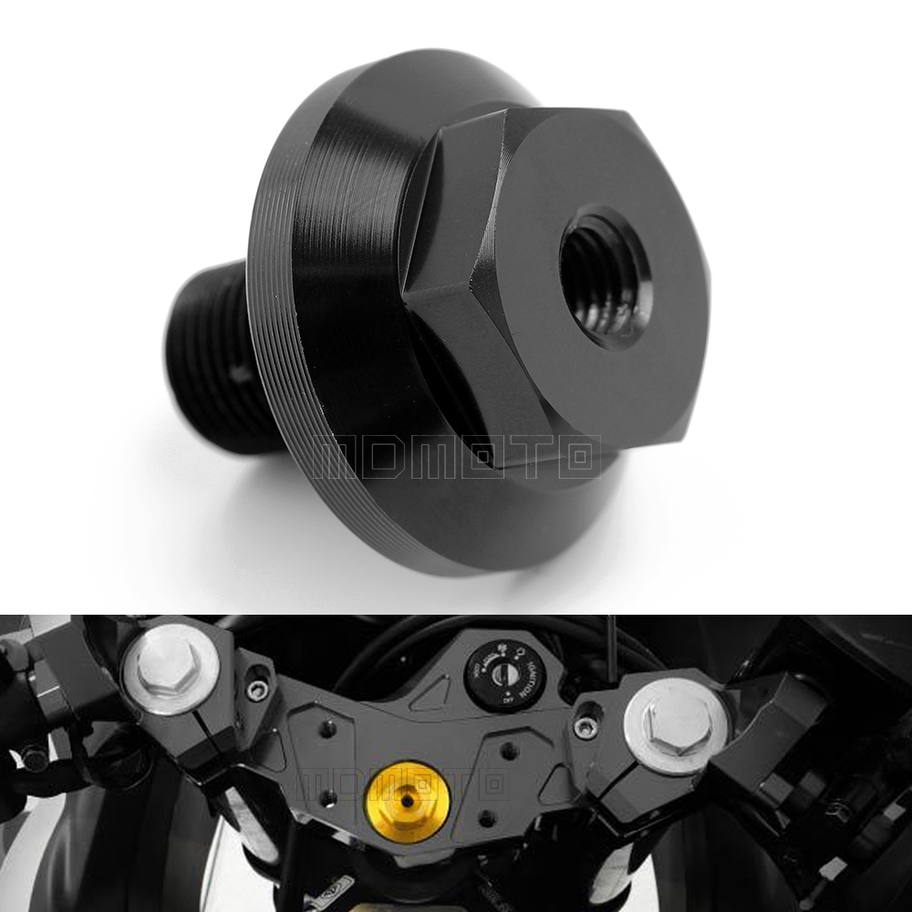 MDmoto motorcycle accessories cnc Engine triple clamp Oil Filler Cap Plug Bolt Screw for yamaha XT350 Virago 535 TW200 2001-2015 motorcycle engine cover camshaft plug crankcase cap oil filler cover screw for honda cbr500r cb500f nc700 nc750 2013 2014